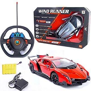 PJXLAK 1:14 per Bambini Elettrico Telecomando Senza Fili Auto Ricarica Giocattolo Modello di Simulazione,1