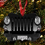 BRGiftShop Personalize Your Own SUV Bumper Car Grill Black License Plate Christmas Tree Ornament