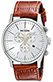 Nixon Men's A4051888 Sentry Chrono Leather Watch