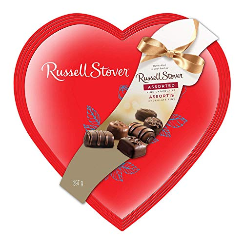 Russell Stover Red Foil Heart Assorted Chocolates, 14 Ounce Box ()