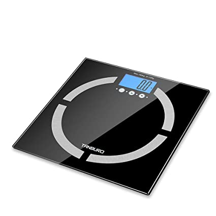 TANBURO Báscula Digital, Báscula de Baño de de Alta Medición Precisa 180KG/400lb, Medido Peso/ grasa/ agua/ músculo/ esqueleto/ calorías/ IMC, ...