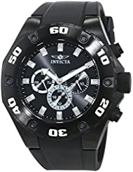 Invicta Mens Specialty Swiss Quartz Stainless Steel and Silicone Casual Watch, Color:Black (Model: 21459)