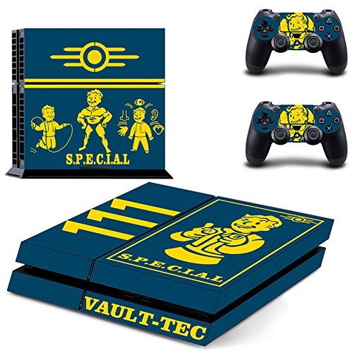 GOOOD PS4 Designer Skin Decal for PlayStation 4 Console System and PS4 Wireless Dualshock Controller - Fallout4 Fitness