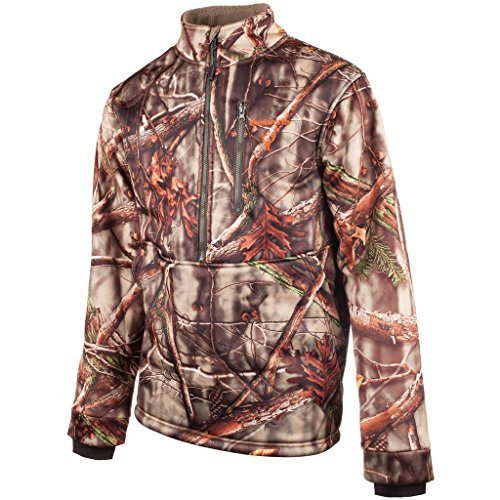 Huntworth Men's Soft Shell 1/2 Zip Pullover, Oak Tree Evo Camouflage, XX-Large - Evo Soft Shell Jacket