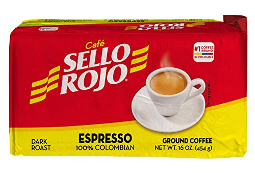 Colombian Coffee Sello Rojo- #1 Coffee Brand in Colombia-Sello Rojo Espresso 100% Roast Coffee 16 Oz