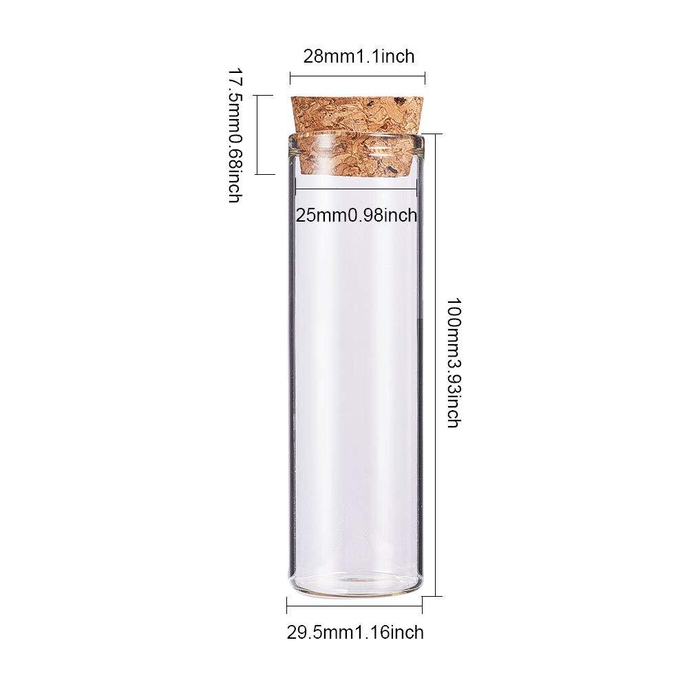 Compra BENECREAT 10 Pack 55ml Botella de Vidrio Transparente con Corcho para Manuaildad de Artesanía Decoración de Boda y Fiesta 100x29.5mm en Amazon.es