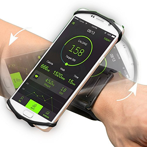 """Sport Armband,VUP+ Universal Rotatable Wristband Fit up 4"""" to 5.5""""Phone for Running,Biking,Workouts or any Fitness Activity Securely in Stretch Lycra"""