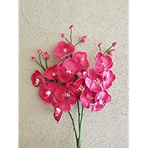 FRP Flowers Artificial Real Touch Orchid Branch for Floral Arrangements, Office Decor, Bridal Bouquets (1 pc) 10