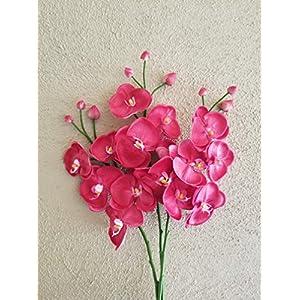 FRP Flowers Artificial Real Touch Orchid Branch for Floral Arrangements, Office Decor, Bridal Bouquets (1 pc) 41