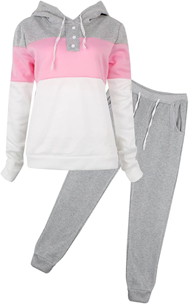 SCASTOE 2Pcs Womens Hoodies Sport Tops Pants Tracksuit Sweatshirt Sweat Suit Jogging Set 51Mp2pDCctL