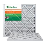 AFB Bronze MERV 6 20x21.5x1 Pleated AC Furnace Air Filter. Pack of 2 Filters. 100% produced in the USA.