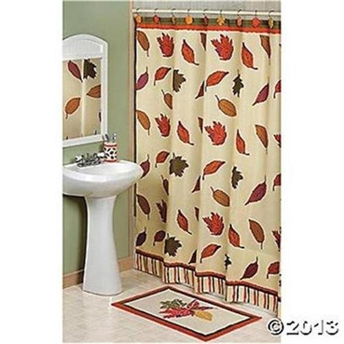 Amazoncom Fall Leaves Autumn Shower Curtain Home Kitchen - Autumn colours for the curtains
