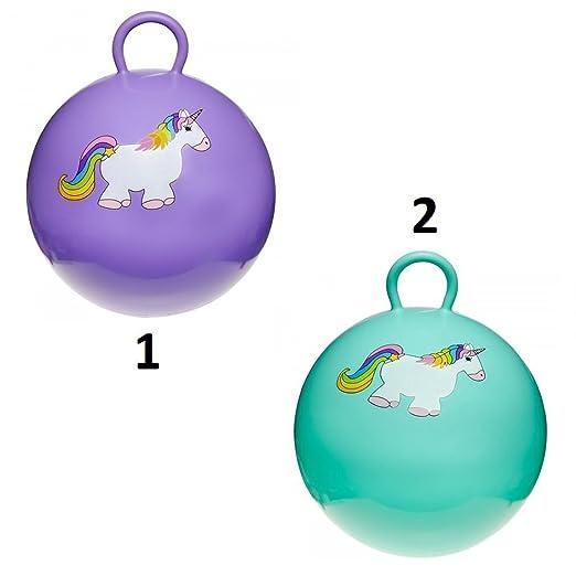 Générique - - Balón Saltador Unicornio 45 cm - Mod1 Morado - Juego ...