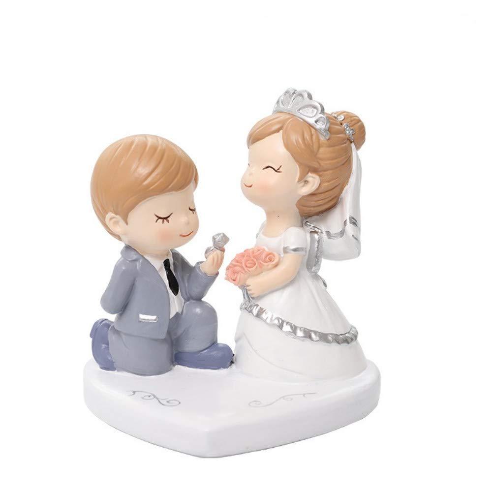 3 JIAHUADE Creative Resin Car Couple Wedding Home Decoration Cake with Decorative, 3