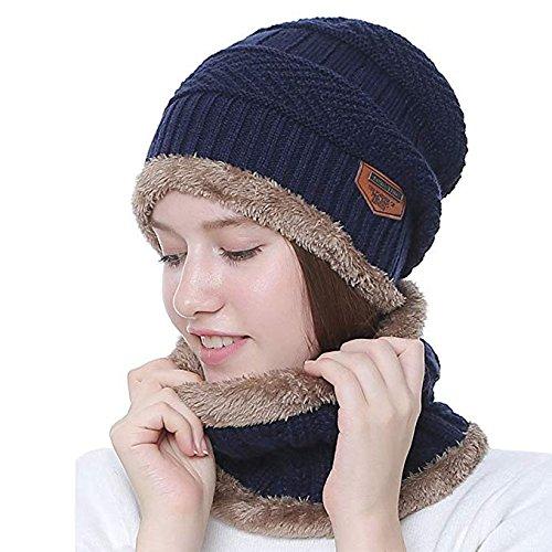 Azul Calavera Sombrero Invierno Gorro Bufanda al Bufanda Conjunto y Libre para marino Aire Acexy Circular gxnpAfwpqZ
