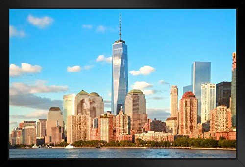 (World Trade Center Majestic Freedom Tower Photo Art Print Framed Poster 20x14 inch)