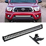 """iJDMTOY 30"""" 180W High Power Double-Row LED Light Bar w/ Lower Bumper Grill Mounting Bracket For 2005-up Toyota Tacoma"""