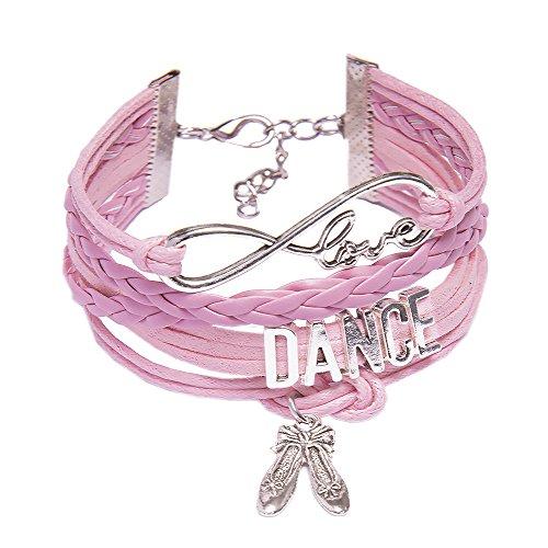 Fille Femme À Danse De Colorier Chaussures Livre Pendentif Argent Rose Dance Enroulé Tressé Love qtwqfU