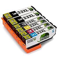 JARBO Ersetzt für Epson 33XL 33 Druckerpatronen mit hoher Reichweite für Epson Expression Premium XP-540 XP-830 XP-900 XP-645 XP-530 XP-630 XP-640 XP-635 XP-7100, 2 Schwarz/Blau/Rot/Gelb/Foto-schwarz