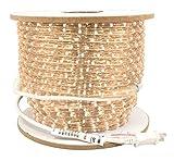 American Lighting ULRL-LED-WW-150 1-Reel 150-watt 4800 Lumens 120V LED Dimmable Rope Light Bulk Reels, 150-Feet, 3000K Warm White