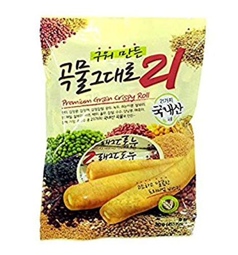 Grain Crispy Roll, Cereal snacks 21 kinds crispy stuffed with cheese, 180 g. (18 sticks) by Grain Crispy Roll