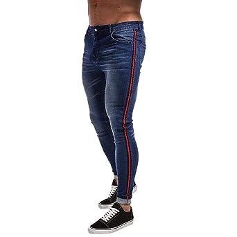 Pantalones vaqueros para hombre, modernos, elásticos ...