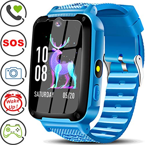 Kids Phone Smart Watch with SOS Kids Smartwatch for 3-14 Year Boys Girls Kids Anti-Lost Touch Screen Camera Game Digital Wrist Sport Outdoor Cellphone Watch Bracelet for Holiday Birthday Gift