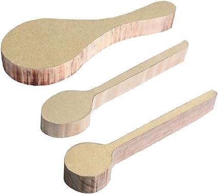 madera de haya regalo perfecto tallado de madera para principiantes 3 piezas hecha a mano de la m/ás alta calidad Cuchara de madera para tallar