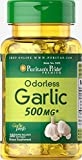 Puritan's Pride Odorless Garlic 500 mg-100 Rapid Release Softgels For Sale