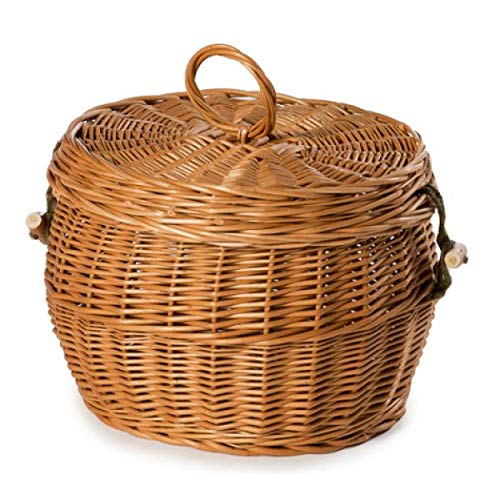 Biodegradable Cremation Ashes Urn for an Eco Frindly Ground Burial - Adult Size - Crocus Wicker/Willow