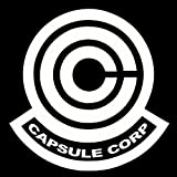 """Dragon Ball Z Capsule Corp Decal Sticker for Room Car Window Laptop (5.5"""" inches (White)"""