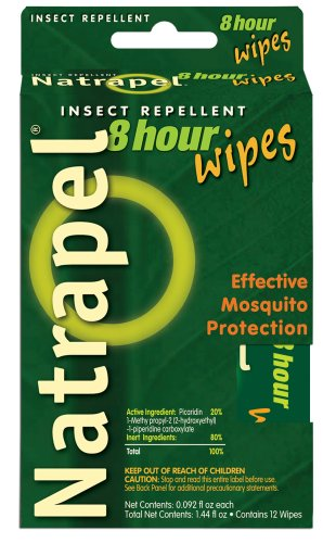 Natrapel Wipes - Adventure Medical Kits/Tender Corporation Natrapel, 8 Hour deet free repellent 12 pack wipes (Pack of 2)