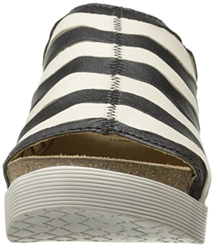 Fly London Womens Wynt874fly Platt Sandal Svart / Off White Mousse