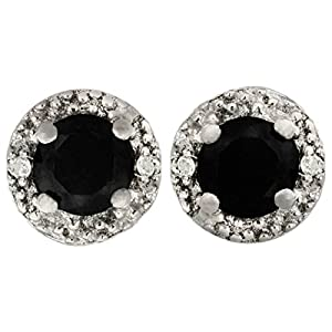 2ct black earrings 1 2ct pave style black and white stud 8012