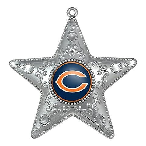NFL Chicago Bears Silverstar Ornament - Chicago Bears Christmas Ornament