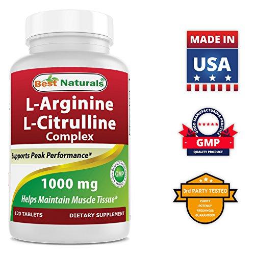 Best Naturals Arginine Citruline Complex 1000 mg 120 Tablets by Best Naturals (Image #4)