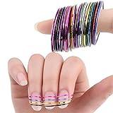 UNKE 10pcs Mixed Colors Rolls Striping Tape Line