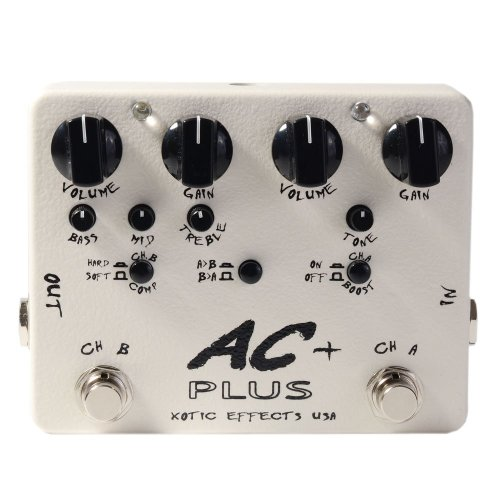 Effects Booster Xotic Ac (Xotic Effects AC Plus 2-Channel Overdrive Guitar Effects Pedal)