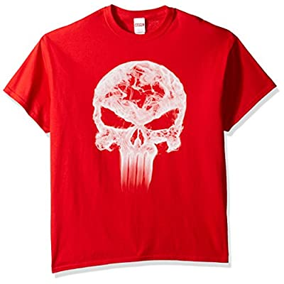 Marvel Men's Punisher Classic Logo Smoke T-Shirt | .com