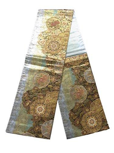 簡単に作るバケットリサイクル 袋帯  華飾流堆朱文 正絹 六通