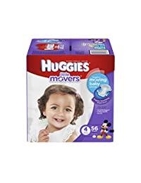 Huggies Little Movers Diapers - Size 4 - 56 ct BOBEBE Online Baby Store From New York to Miami and Los Angeles