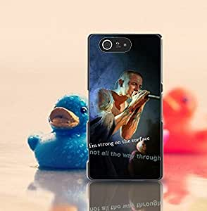 Jeaker - Sony Z3 Compact Funda Case Band Linkin Park Member Creative Design Drop Protection Drop Resistant Ultra Thin Sony Xperia Z3 Compact Back Funda Case Cover For Guys (Only For Sony Z3 Compact)
