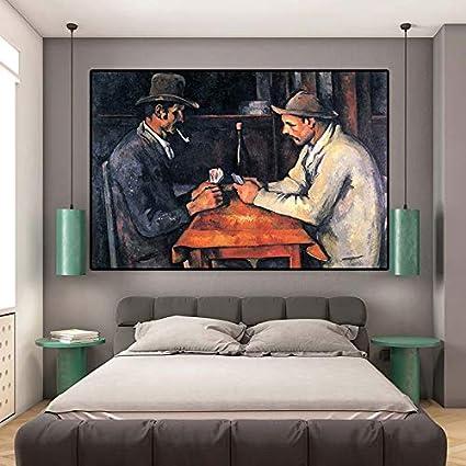 tzxdbh Listo para la Carta ilustrada en el Jugador de camillas Paul Cezanne Pop Art Paintings Obras de Arte, murales, Cuadros Decorativos y decoración. Music Star Art Print 60x90cmx1cps sin Marco