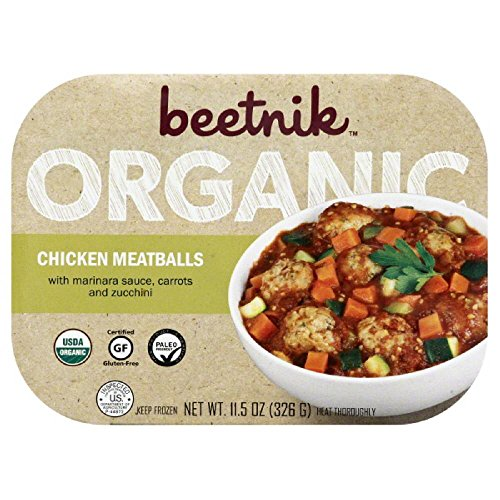 Organic Meatballs (Beetnik Foods Organic Gf Chicken Meatballs, 11.5 Ounce (Pack of 08))