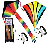 Best Beach Toys For Adults - Rainbow Delta and diamond kite (2sets) kite Review