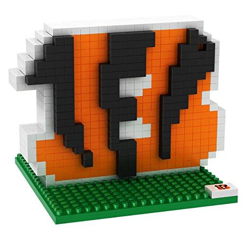 FOCO NFL Cincinnati Bengals Mini BRXLZ Logo Building Blocks, One Size, Orange