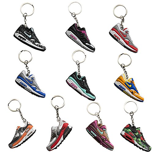 NIS Industries Rubber/Silicone Retro Sneaker Keychains - Airmax 10 Pack Gift Set (Airmax)