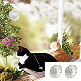 Window Cat Bed,Cat Window Seat Window Perch Bed Hammock with Replaceable Suction Cups Space Saving,Big Cat Window Bed Sunny Seat, Durable Steady Cat Shelf for Kitten