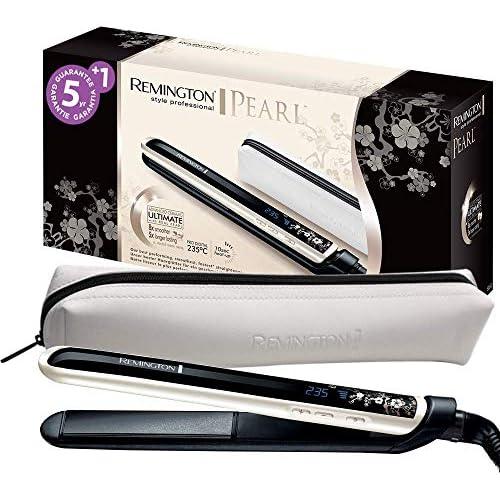 chollos oferta descuentos barato Remington S9500 Pearl Plancha de Pelo Cerámica Avanzada con Perla Digital color Blanco y Negro