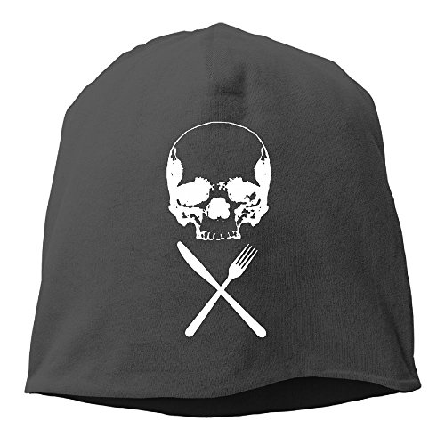 Crossbones Knit (NO4LRM Men And Women Skull Crossbone Warm Stretchy Daily Beanie Hat Skull Cap Outdoor Winter)